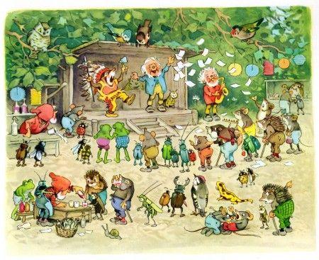 ''Sommerfest im Märchenwald'' by Fritz Baumgarten