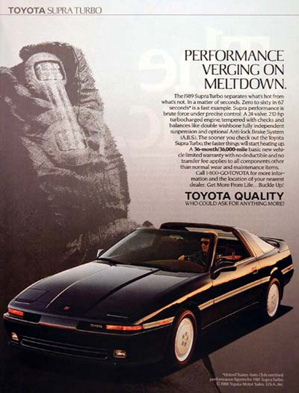 Throwback Friday: Advertising the '89 Toyota Supra