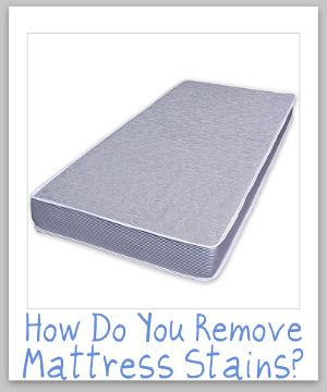 Here are tips for cleaning and removing mattress stains and odors. It includes general instructions for vacuuming and cleaning and what to do when there are spills or accidents.