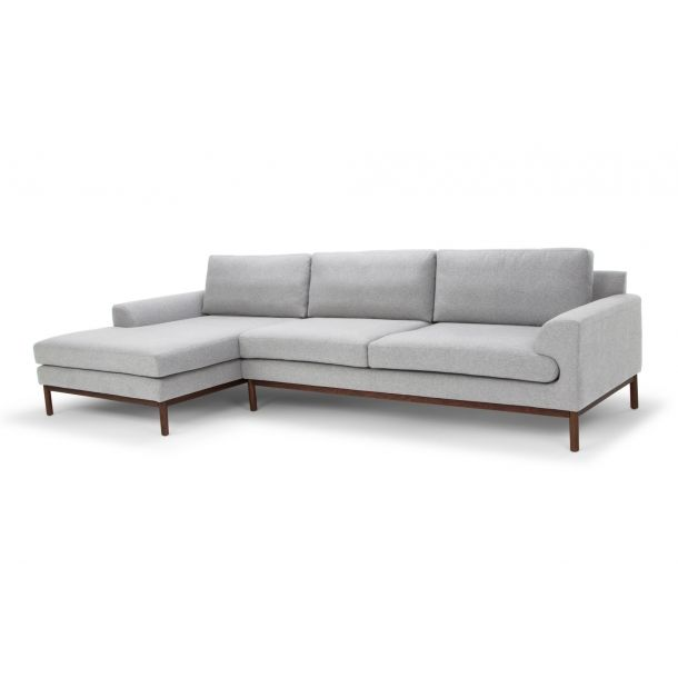 Carter Chaise Sectional Laf In Light Gray Memoky Com Sectional Furniture Upholstered Sofa