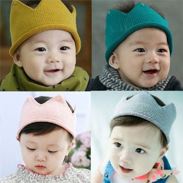 Детские Младенческой Головные Уборы Шляпа Корона Вязание Крючком Костюм Мягкие Очаровательны Одежда Для Новорожденных Детские Hat Cap