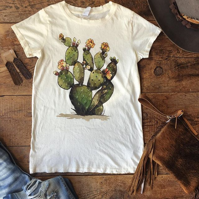 All kinds of excited around here bout today's delivery of The {new} Prickly Pear #cactus tee!! #cactusclub #thatgraphic #ohmy #perfection #savannah7s