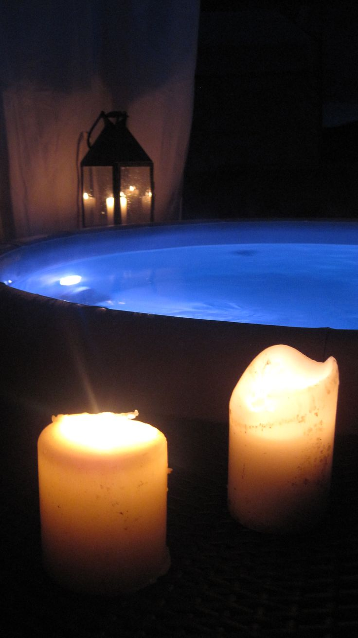 Softub and candles for a bit of romance