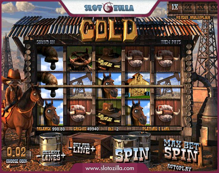 """Here is a unique opportunity to feel like a Texan oil tycoon. Play brand new free slot called """"Black Gold"""" produced by BetSoft at slotozilla.com"""