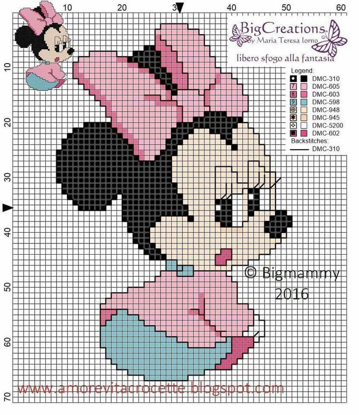 Baby Minnie Mouse x-stitch