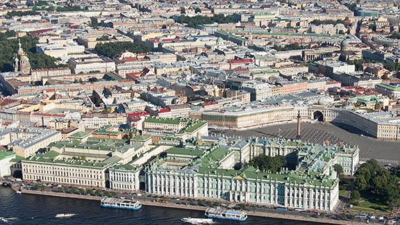 State Hermitage Museum at St. Petersburg, Russia. The Main Museum Complex