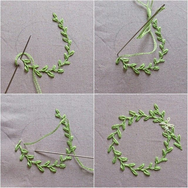 De bästa embroidery leaves bilderna på pinterest