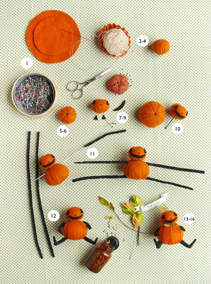 free Pumpkin Man pattern PDF from Jennifer Murphy
