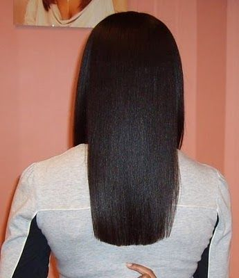 I want my hair to be thing long . All natural