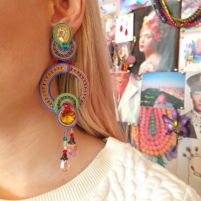 A splash of color with Happy Collection. As seen in Charm & Chain, USA #charmandchain #doricsengeri #colors #ss2015 #earrings #statment