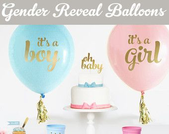 Gender Reveal Party Decorations Gender Reveal por ThePartyStork