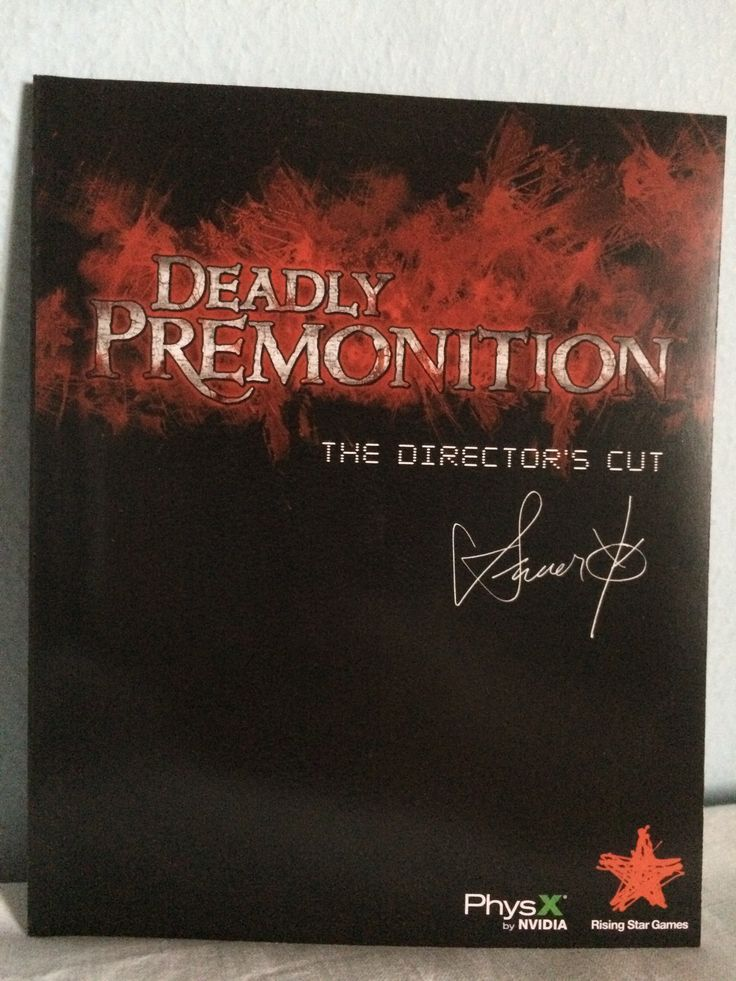 Deadly Premonition The Director's Cut manual.