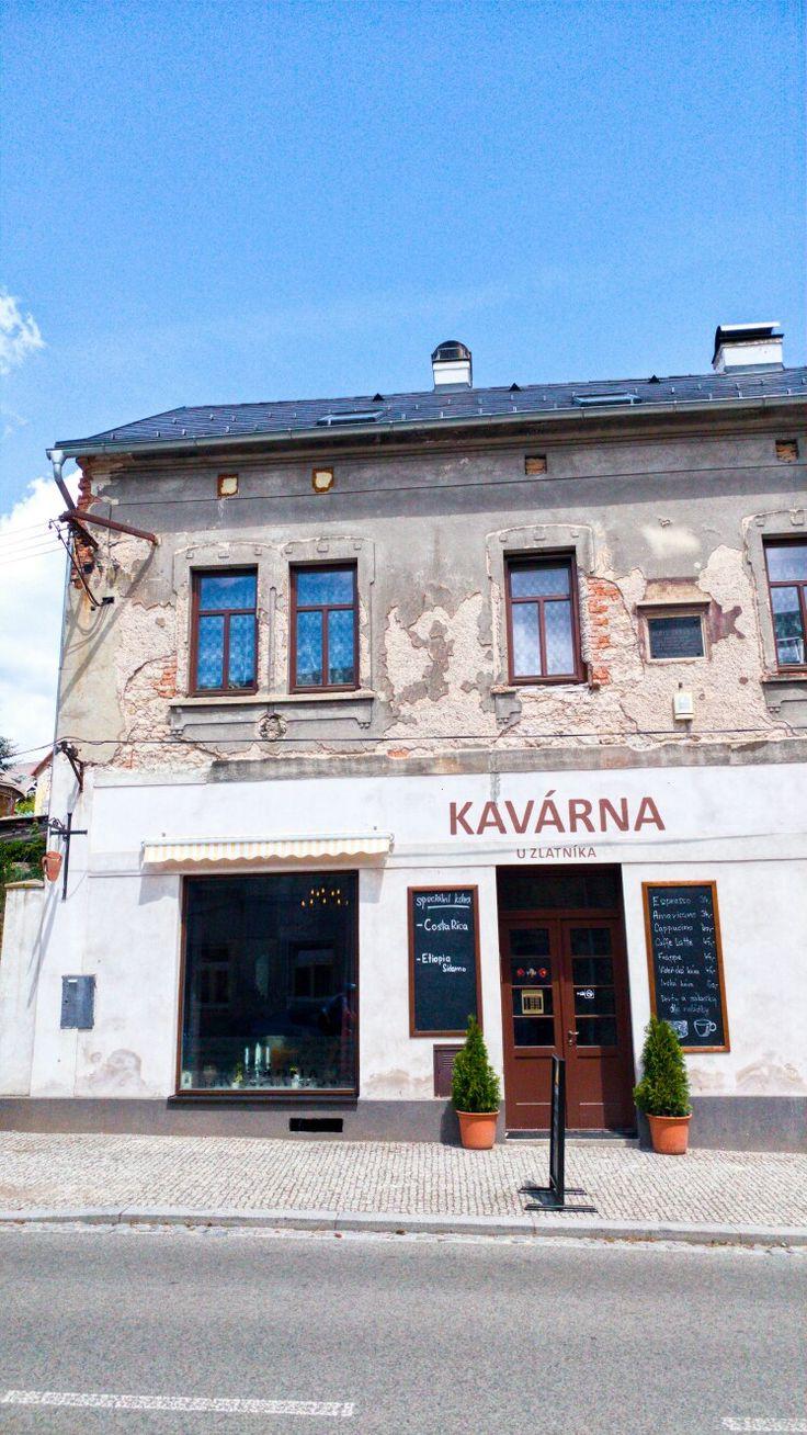 Kavárna U Zlatnika. Mnichovo Hradiště