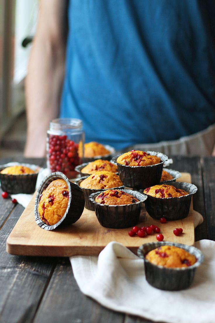Saffron Muffins with Lingonberries and Raisins