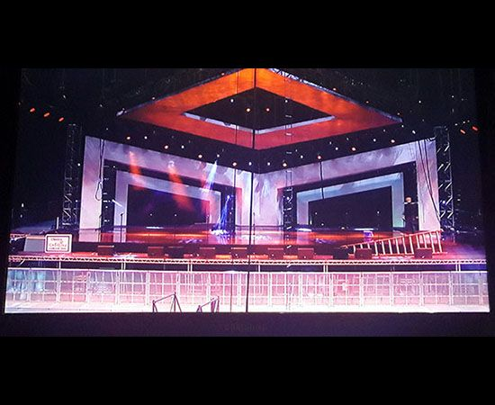 concert stage design set design flora design church stage stage set