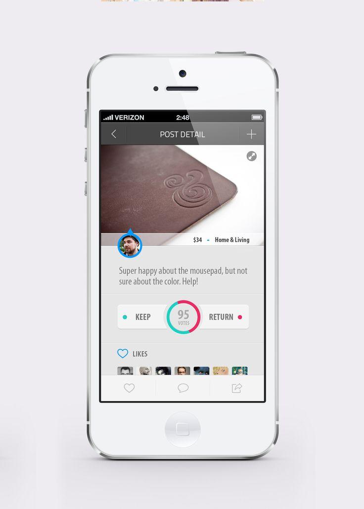 UI Design Dribbble - KeepOrReturnRealPixels.jpg by Kim Wouters