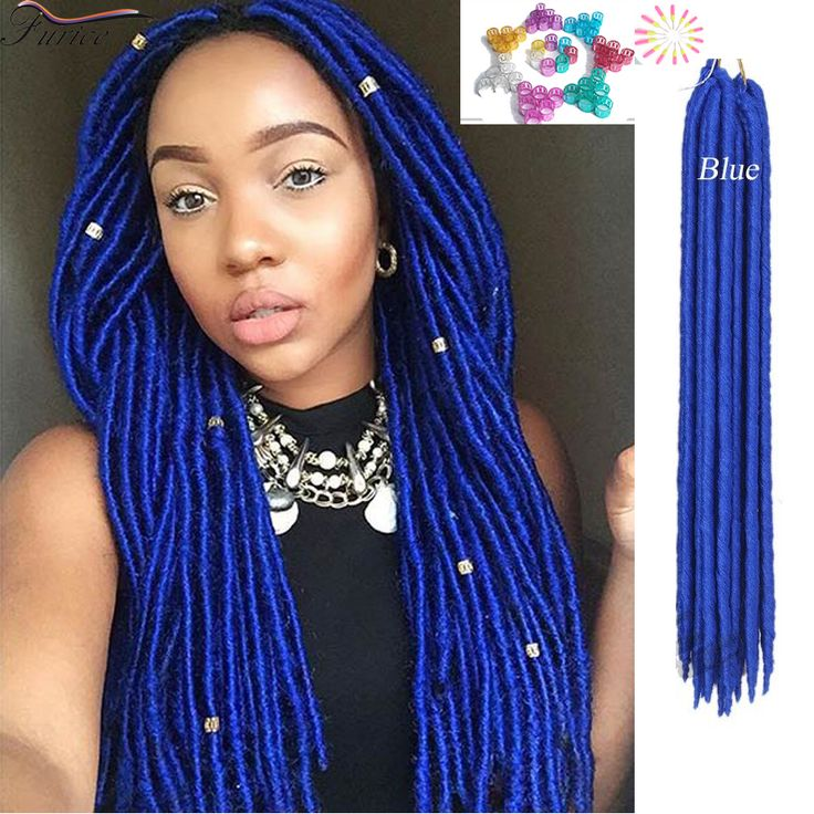 one bundles ombre blue braiding box crochet braid hair synthetic bug ...