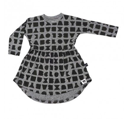 Block Swirl Dress from Huxbaby's AW16 collection from Baby Dino.  www.babydino.com.au