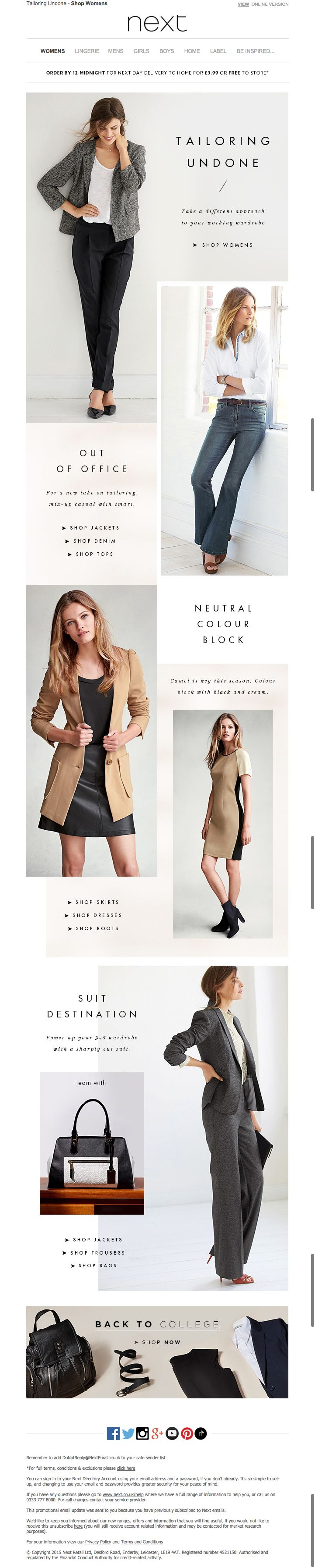 next work wear email / back to school