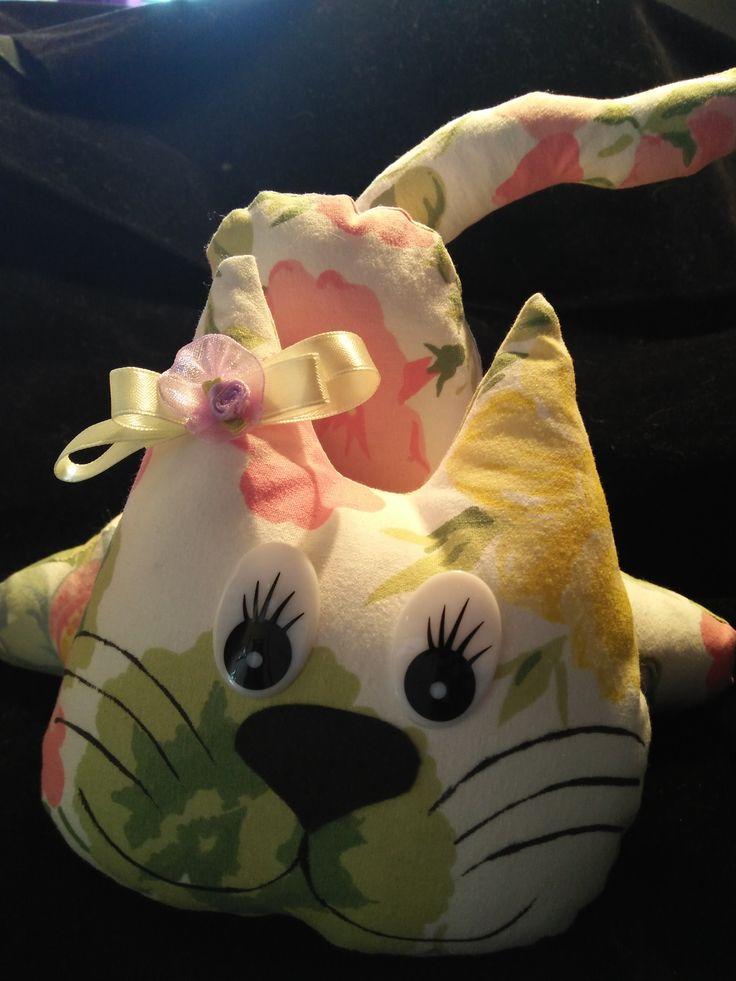 Cat doorstop with bow. $25