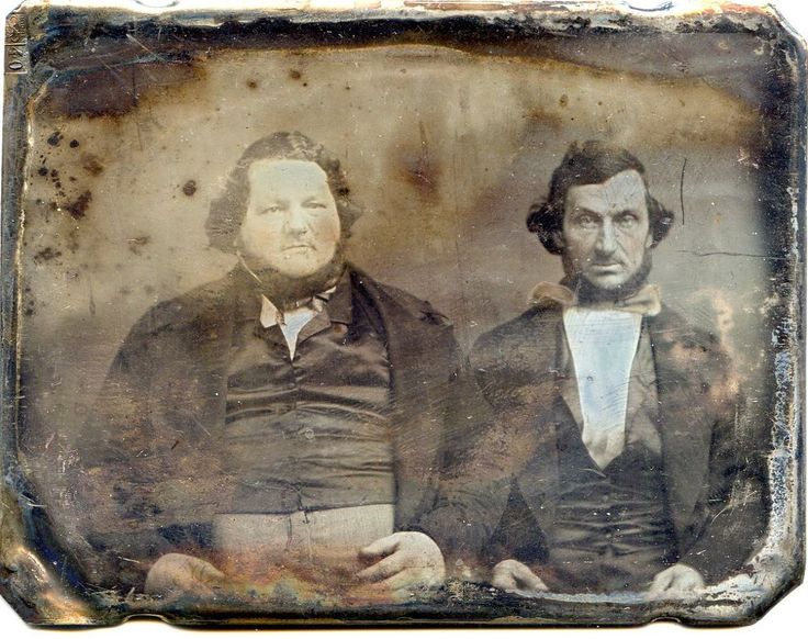 LARGE HORIZONTAL DAGUERREOTYPE BEARDED FAT and SKINNY MEN PLATEMARK LAMB | Collectibles, Photographic Images, Vintage & Antique (Pre-1940) | eBay!