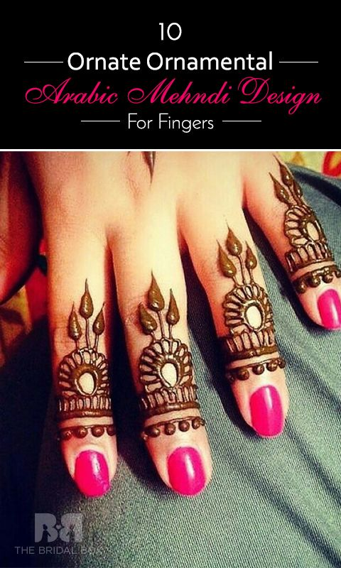 #Mehndi : Have a look at these Arabic mehndi design for fingers and we are sure you will find your design. #mehndi #arabic