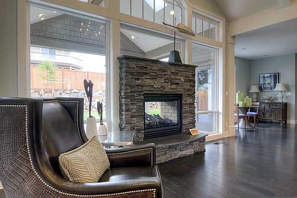 Plan 69005am an empty nester 39 s dream home house plans for Inside outside fireplace