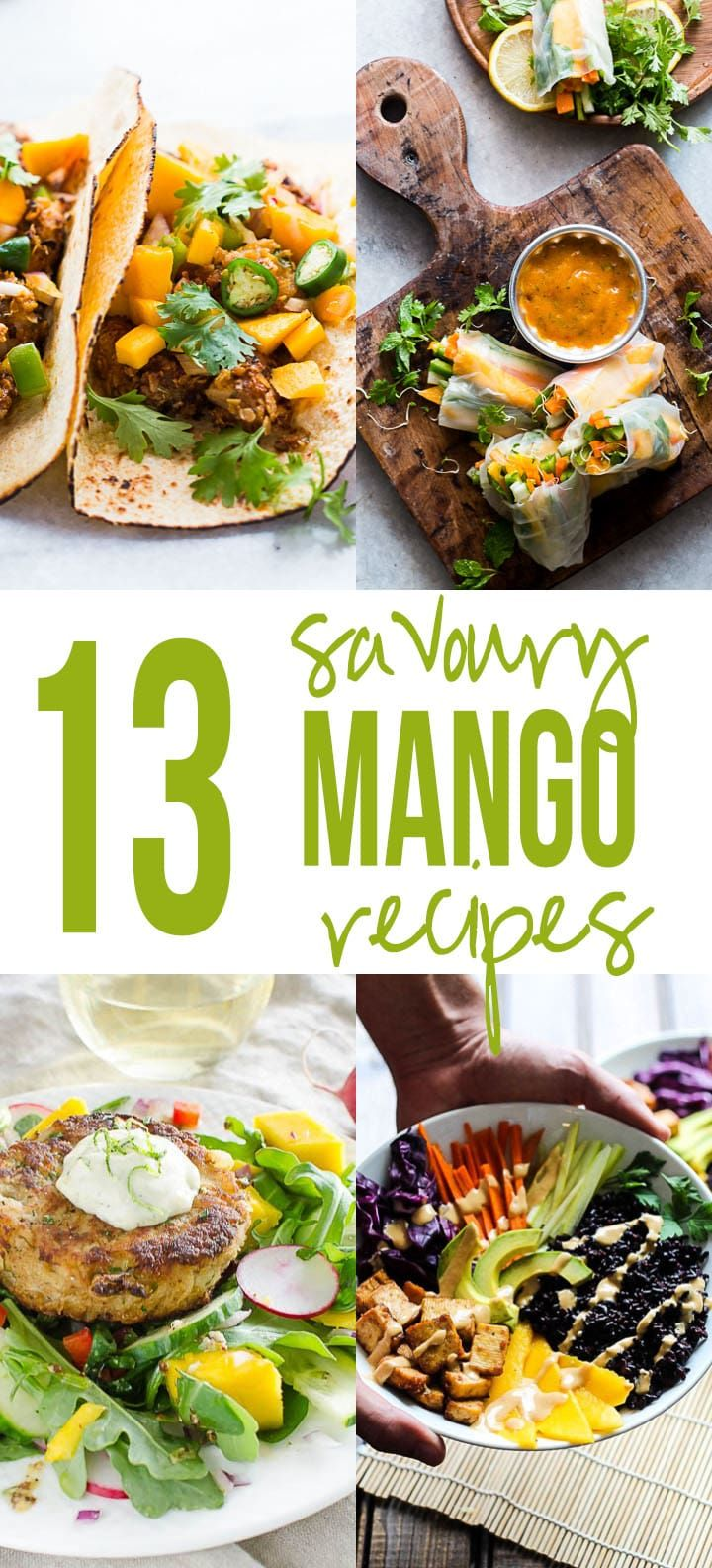 Love Mangoes? Make the most of them with 13 insanely delicious recipes that use mangoes in savoury dishes so that you get the best of both worlds - sweet and spicy!