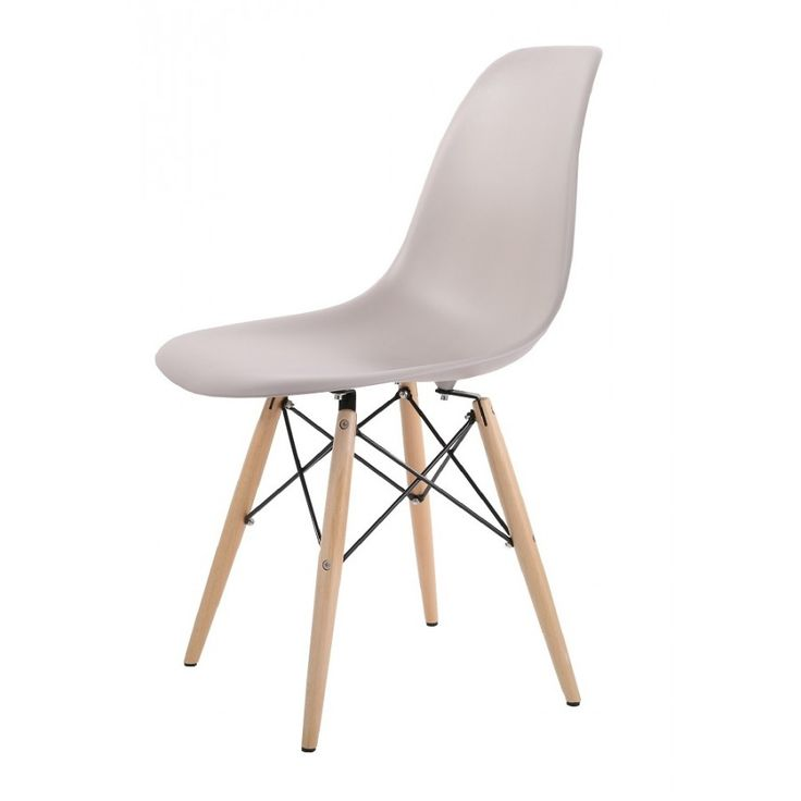 New Retro Eames Inspired DSW Chair in Warm Grey