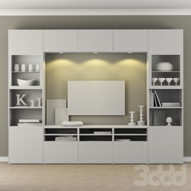 3d модели: Шкафы - Шкаф для ТВ IKEA Бесто/Besta