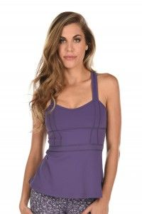 The Pirouette Tank (Currant) --> Now available at myyogacloset.com!