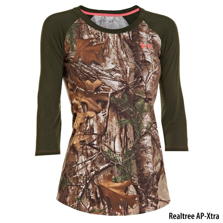 Under Armour Womens Charged Cotton Camo 3/4-Sleeve Tee-722043 - Gander Mountain
