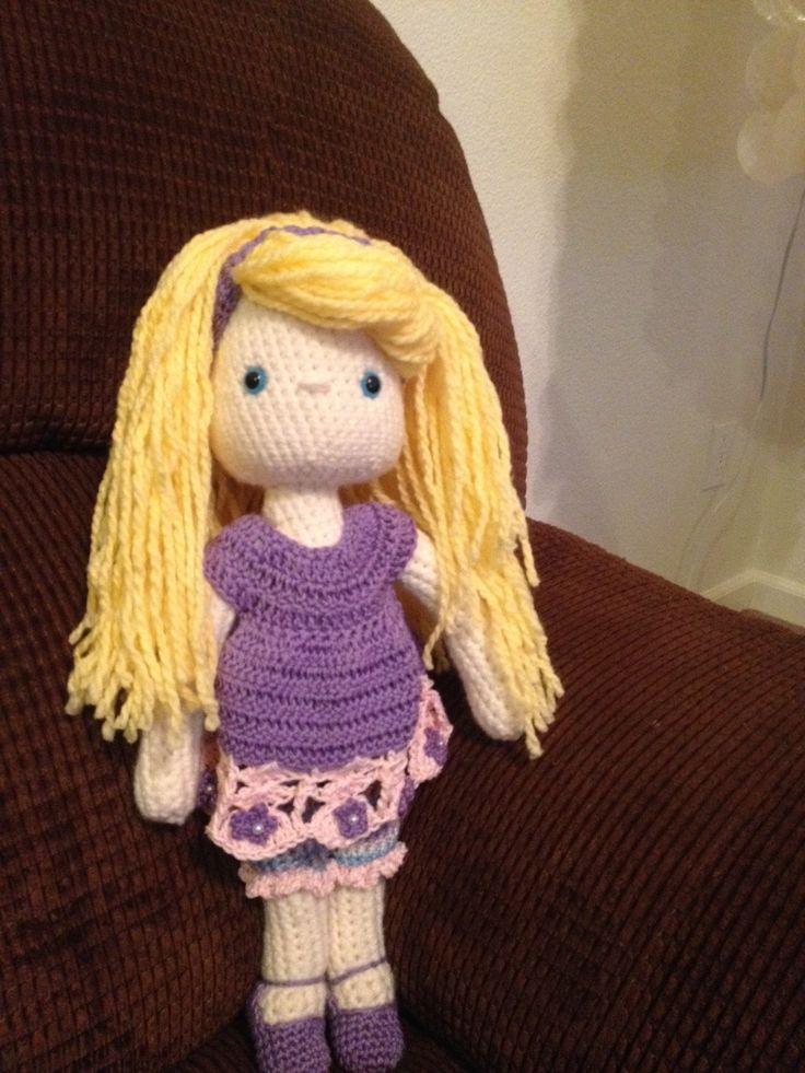 My Crochet Doll, Amigurumi Doll, Crochet Doll, my first UC Davis Children's Hospital doll, 14 more to go