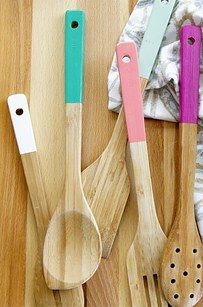 Personalize your utensils. | 27 Home Decor Hacks Every Twentysomething Should Know