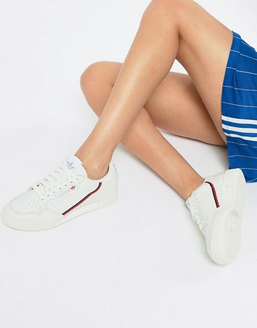 Originals White Continental Off And Sneakers In Adidas 80's Red dxwq5Y1dAR