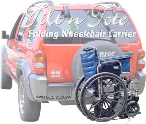 Scooter Ramps For Cars >> Tilt 'n' Tote Steel Folding Manual Wheelchair Carrier - 100 lb Capacity | Cars, Wheelchairs and Van