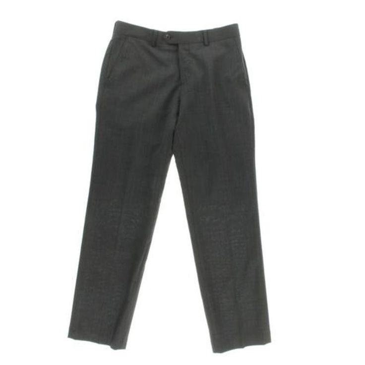Bar III Mens Wool Slim Fit Dress Pants