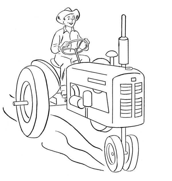 Tractor Colouring In Pages John Deere : 11 best tranh phương tiện giao thông images on pinterest
