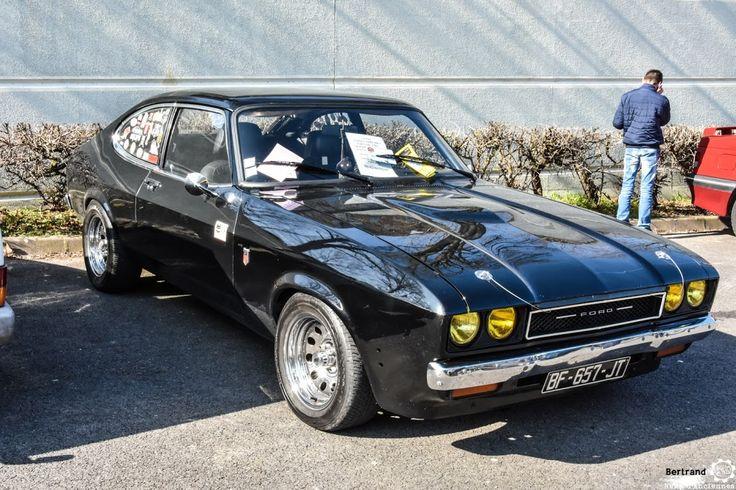 #Ford #Capri au salon de Reims. Reportage complet : http://newsdanciennes.com/2016/03/13/grand-format-les-belles-champenoises-depoque-2016/ #ClassicCar #Vintage #Car #Voiture #Ancienne