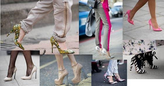 С чем можно одеть атласные цветные туфли