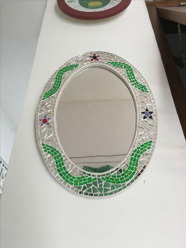 Maren mozaik collection 1 -small wall mirror dimension 25x35cm