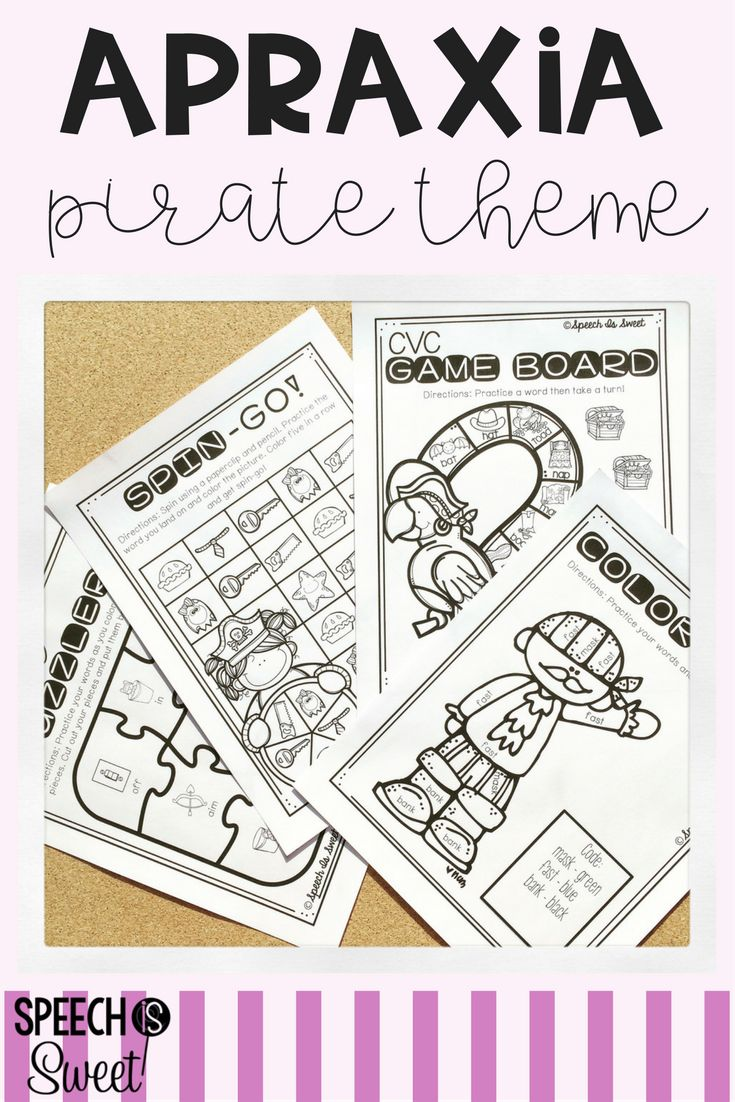 Coloring activities speech therapy - Pirate And School Themed Apraxia Resources These Fun And Engaging Sheets Include Games Puzzles