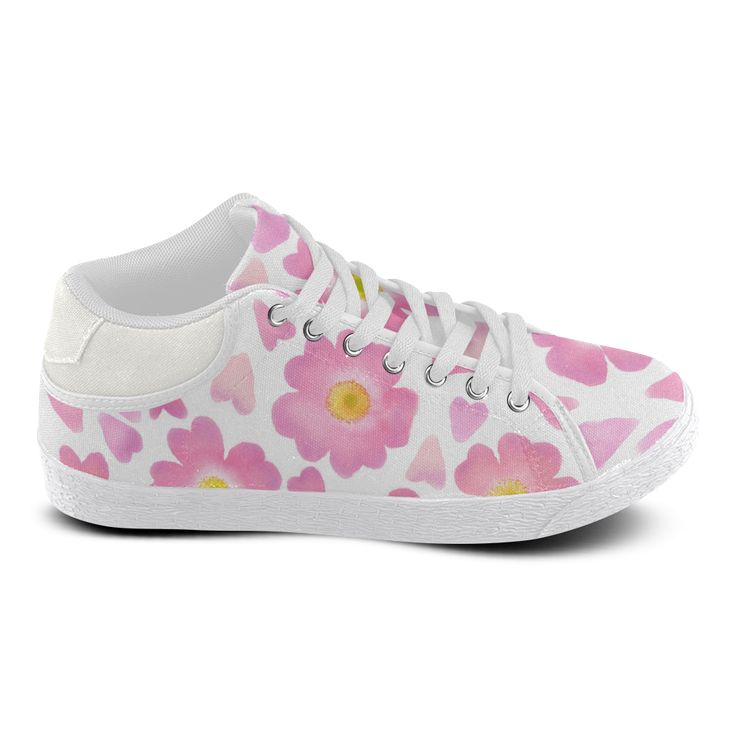 Hearts Of Wild Roses. Inspired by the Magic Island of Gotland. Women's Chukka Canvas Shoes (Model 003)