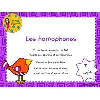 Les homophones - 3e année