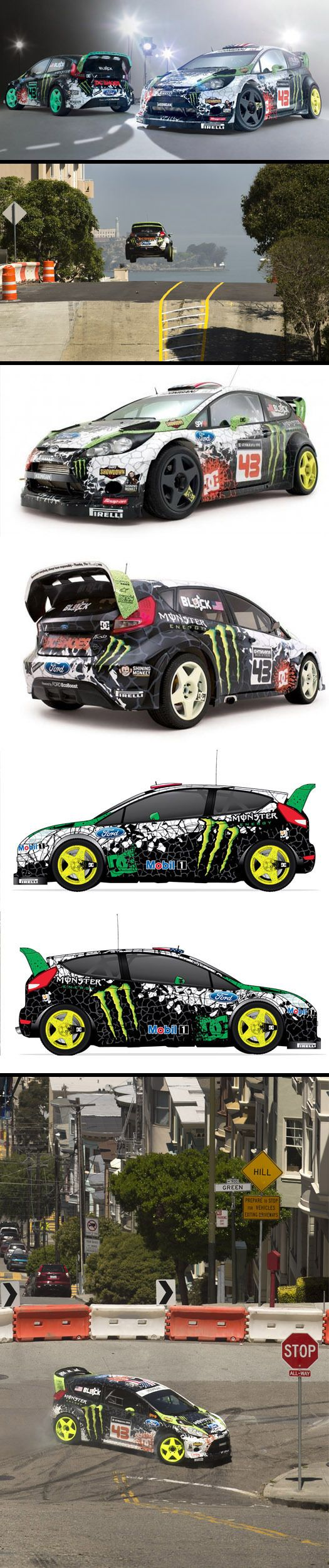 DC Shoes / Ken Block Branding & Vehicle Graphics by SoupGraphix Inc. , via Behance