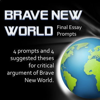 This activity includes 4 prompts and 4 suggested theses for critical discussion of Brave New World. Prompts address: --the main character --methods of characterization --social control --a critic's comment about being human Theses include: ---BNW is a utopia ---BNW is a plausible option for