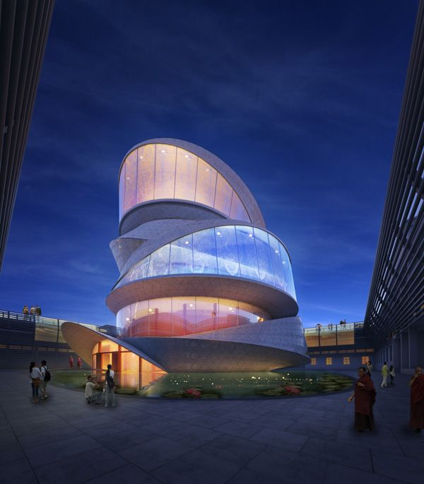 Buddhism Temple Based on a Mobius Strip / Miliy Design