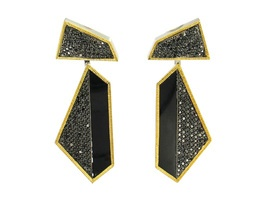 Sally Sohn's detachable earrings are made in 18-karat gold with onyx, mother of pearl and black diamonds ($18,260).