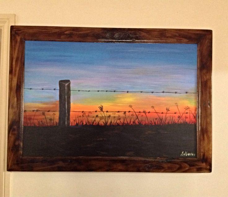 Country sunrise acrylic on canvas.