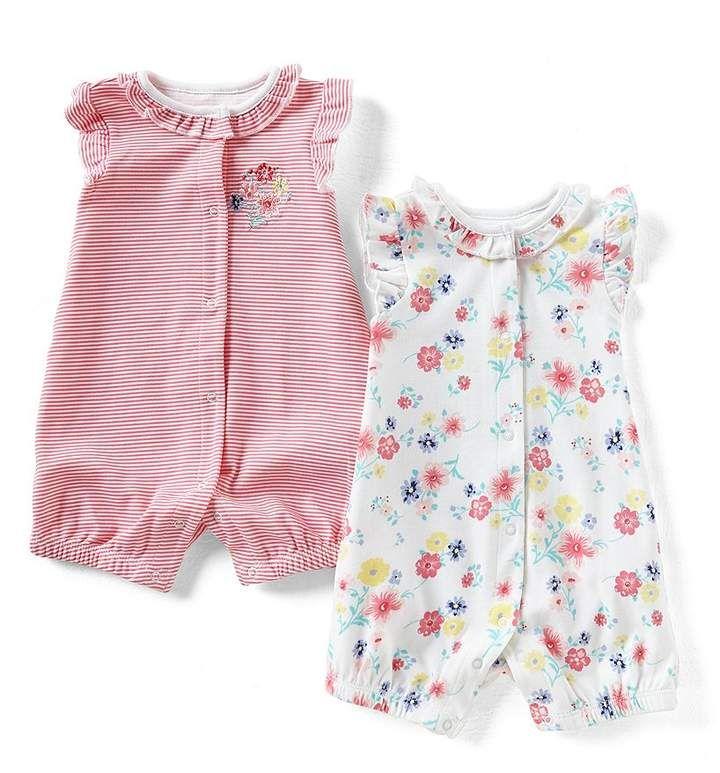 7e0bef1a2 Little Me Baby Girls Floral 2-Pack Romper Set #babygirl, #rompers,  #dillards, #promotion